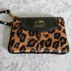 Authentic Coach Wristlet Small